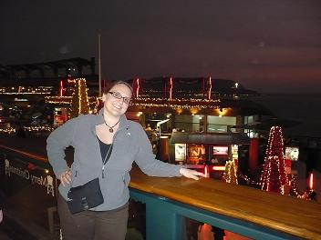 Me at an open air cliff-side mall in Lima Peru